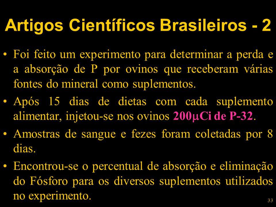 Artigos Científicos Brasileiros - 2