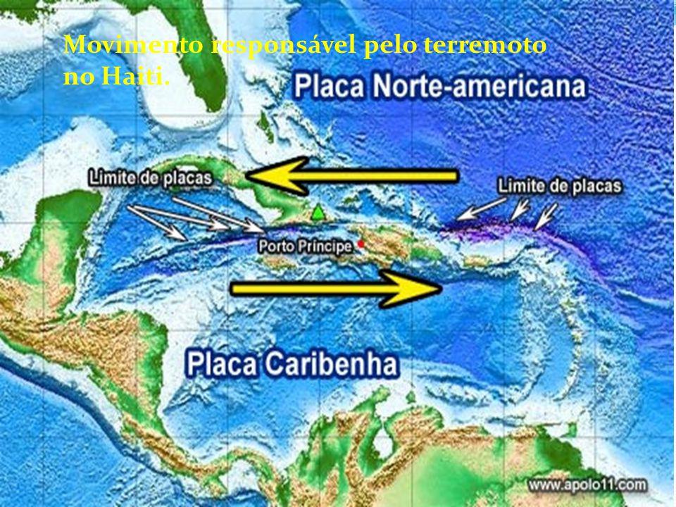 Movimento responsável pelo terremoto no Haiti.
