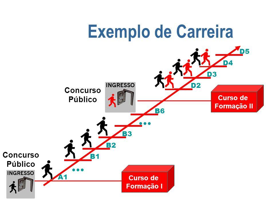 Exemplo de Carreira ... ... Concurso Público Concurso Público D5 D4 D3