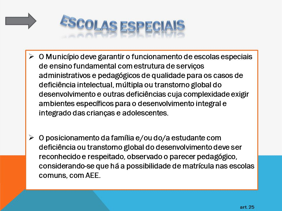 ESCOLAS ESPECIAIS