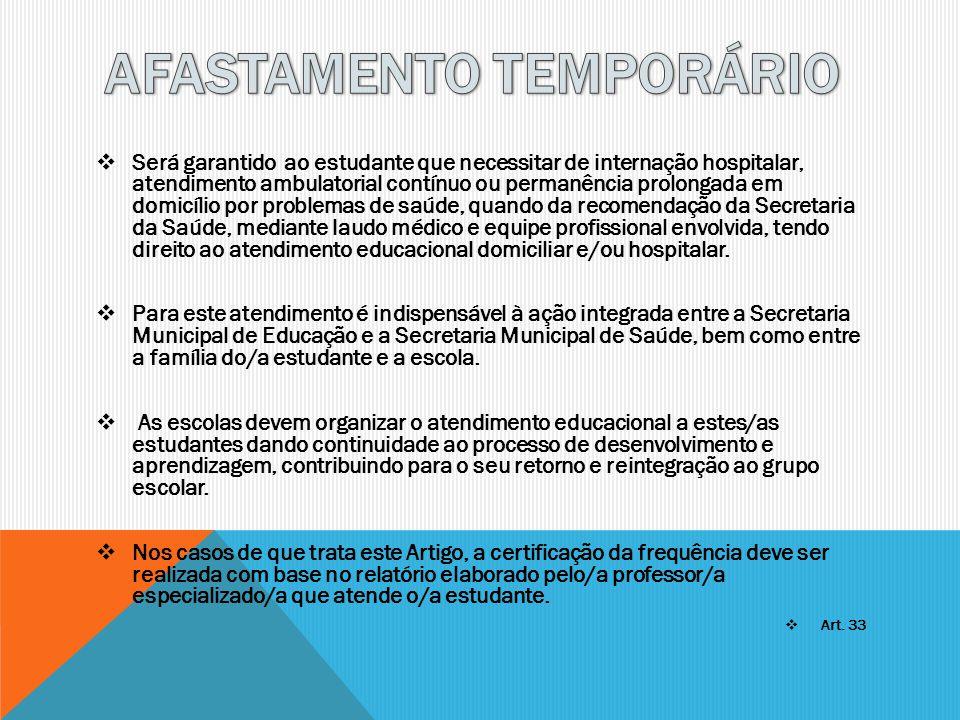 AFASTAMENTO TEMPORÁRIO