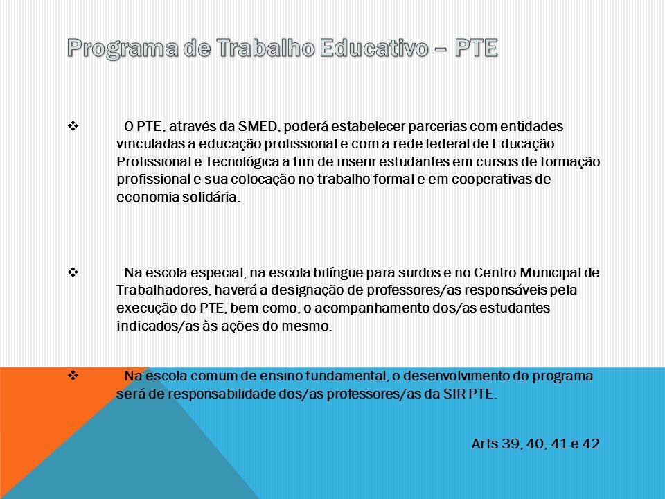 Programa de Trabalho Educativo – PTE