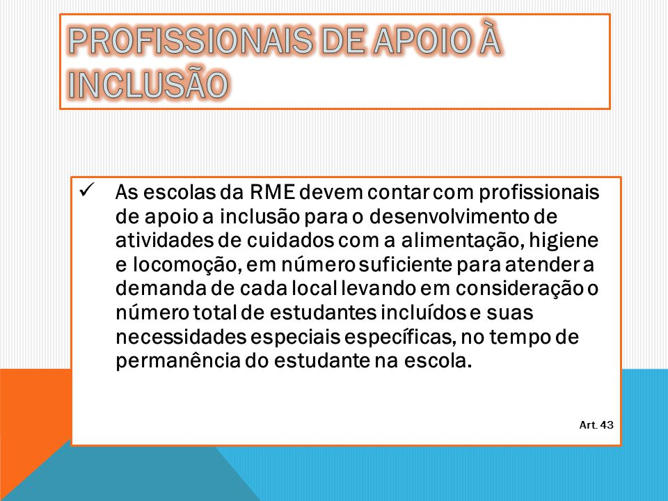 PROFISSIONAIS DE APOIO À INCLUSÃO