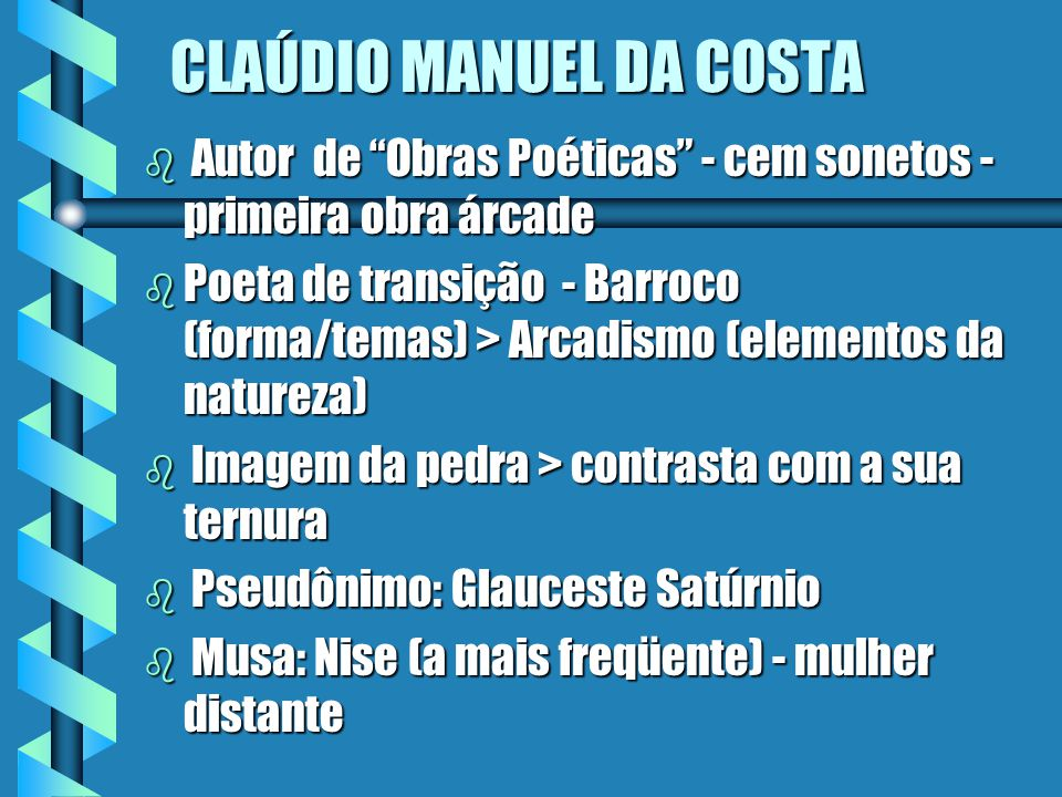 CLAÚDIO MANUEL DA COSTA