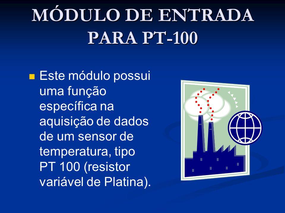 MÓDULO DE ENTRADA PARA PT-100