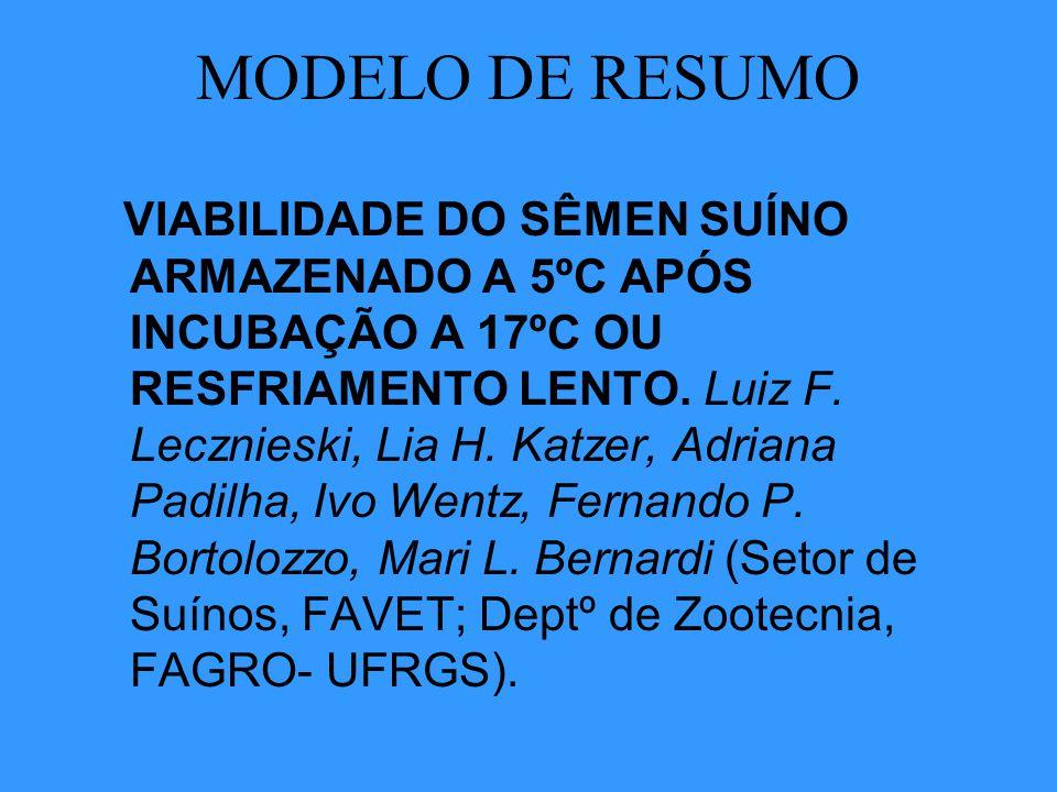 MODELO DE RESUMO