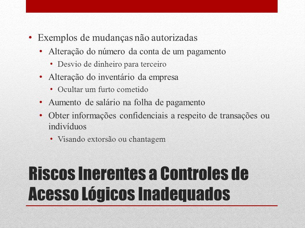 Riscos Inerentes a Controles de Acesso Lógicos Inadequados