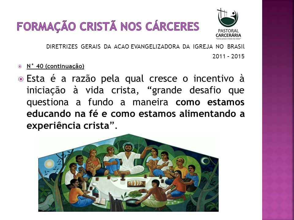 Formação Cristã nos cárceres