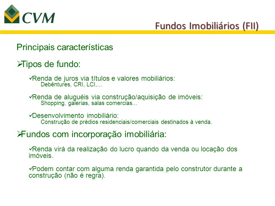 Fundos Imobiliários (FII)