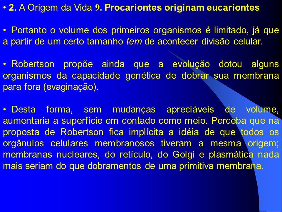 2. A Origem da Vida 9. Procariontes originam eucariontes