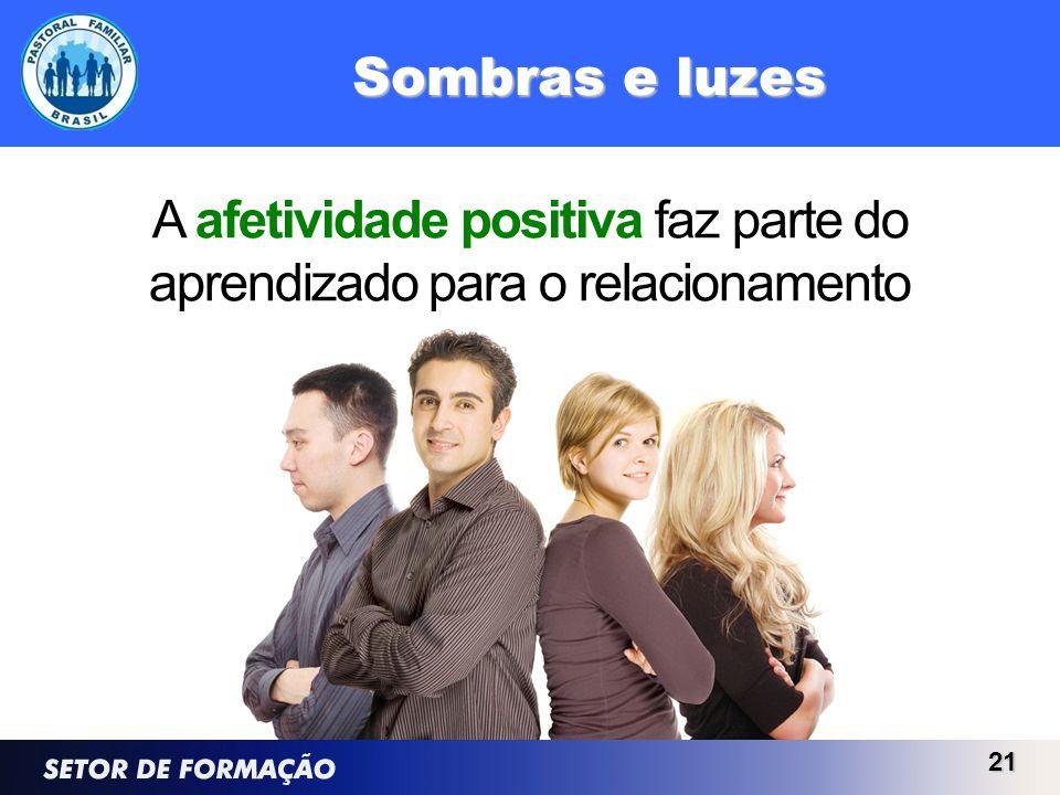 A afetividade positiva faz parte do aprendizado para o relacionamento