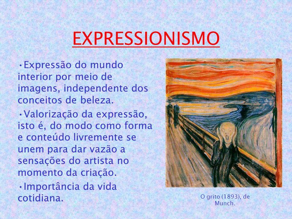 EXPRESSIONISMO Expressão do mundo interior por meio de imagens, independente dos conceitos de beleza.