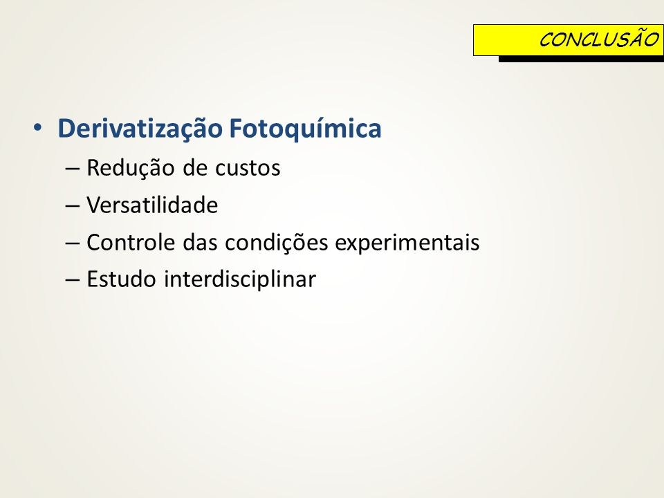 Derivatização Fotoquímica