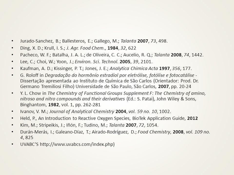 Jurado-Sanchez, B. ; Ballesteros, E. ; Gallego, M