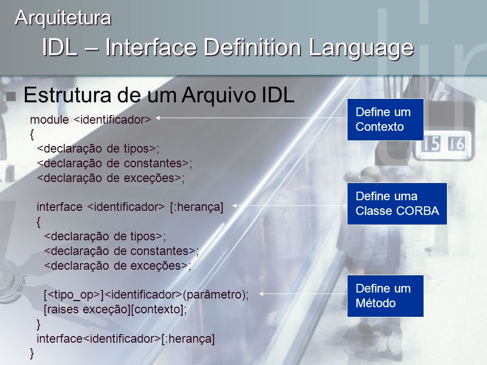 IDL – Interface Definition Language