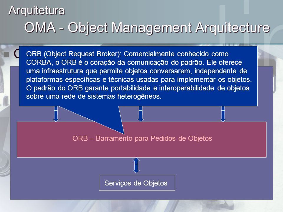 OMA - Object Management Arquitecture