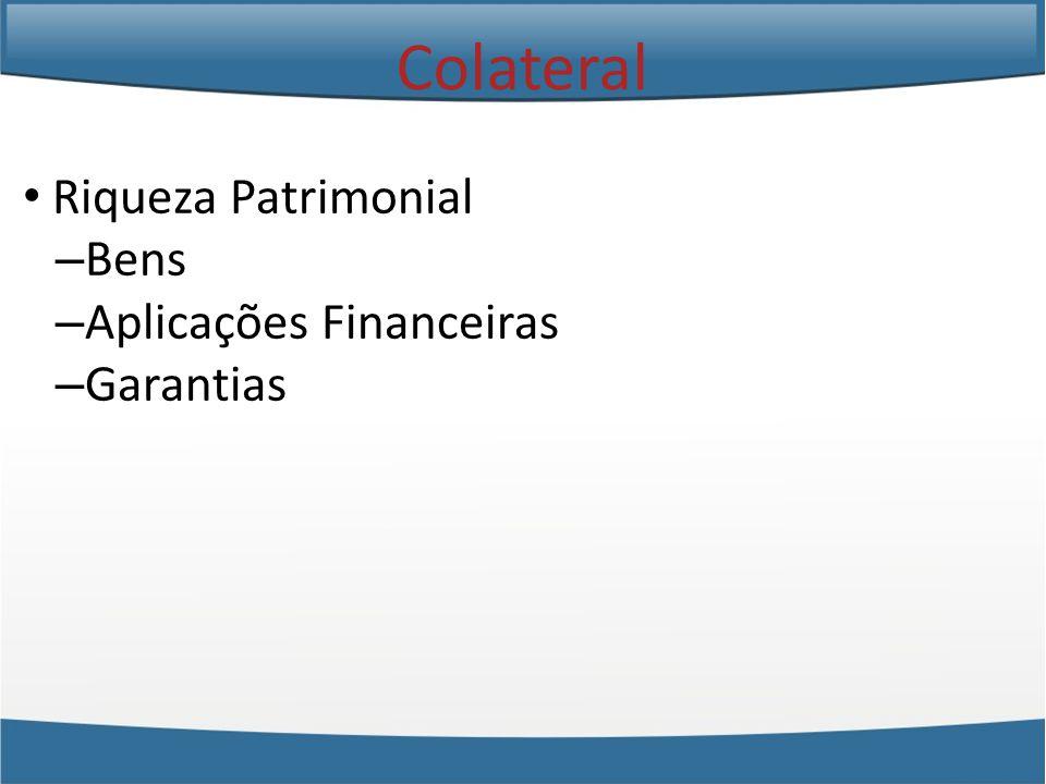 Colateral Riqueza Patrimonial Bens Aplicações Financeiras Garantias