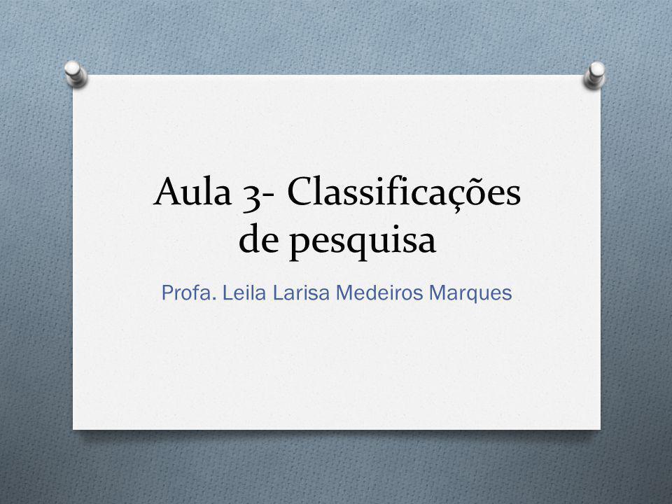 Aula 3- Classificações de pesquisa
