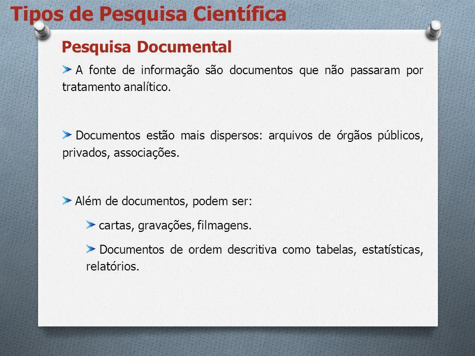 Tipos de Pesquisa Científica