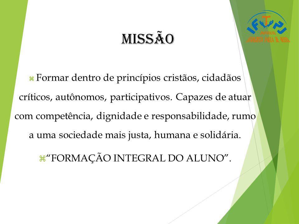 FORMAÇÃO INTEGRAL DO ALUNO .