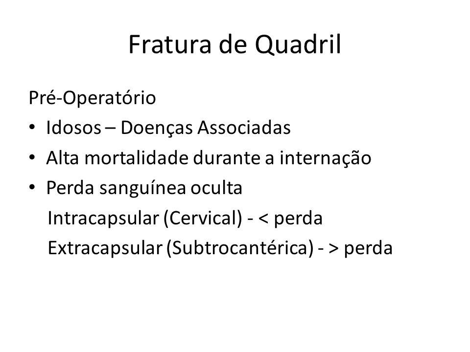 Fratura de Quadril Pré-Operatório Idosos – Doenças Associadas