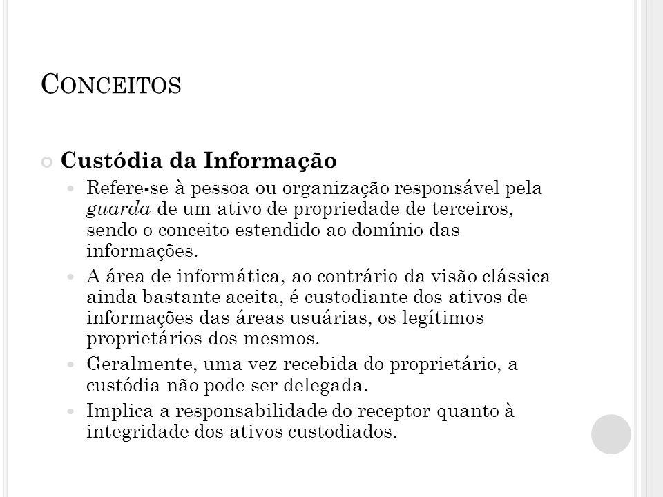 Conceitos Custódia da Informação