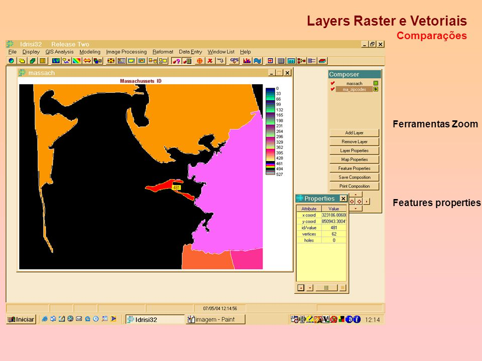 Layers Raster e Vetoriais