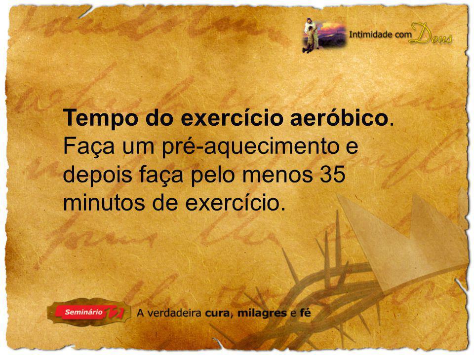 Tempo do exercício aeróbico