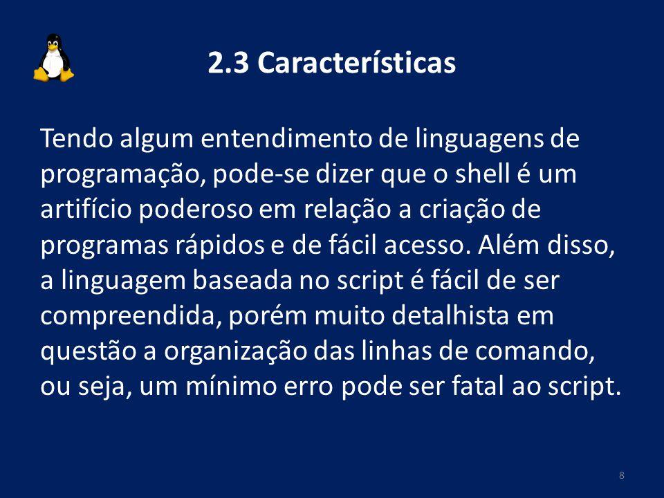 2.3 Características