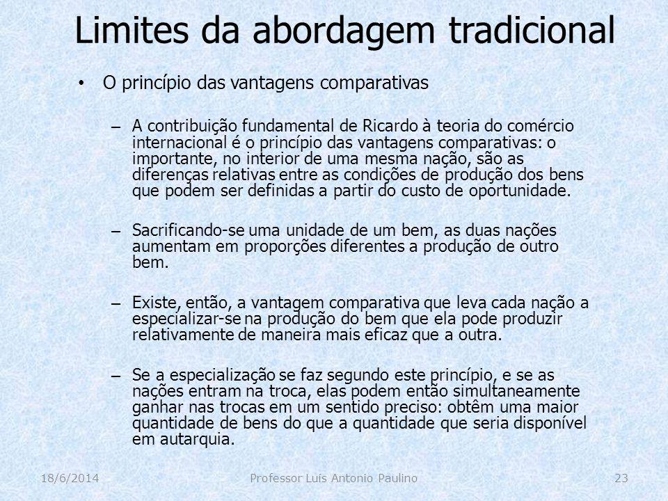 Limites da abordagem tradicional