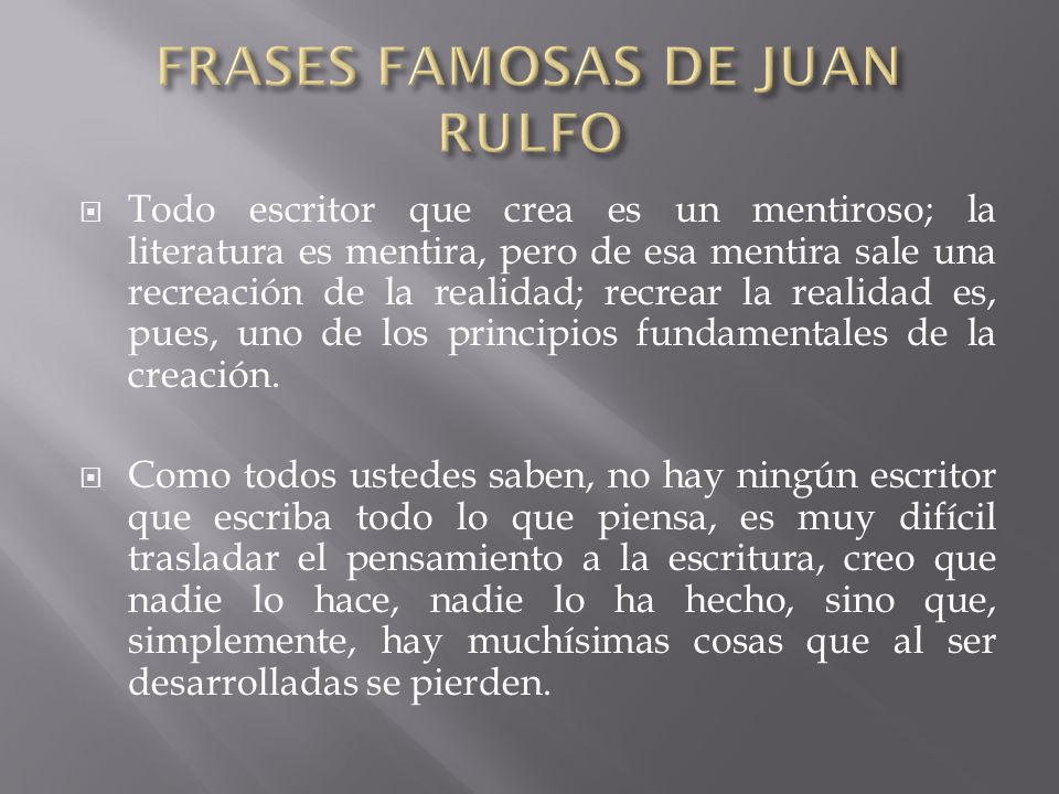 FRASES FAMOSAS DE JUAN RULFO