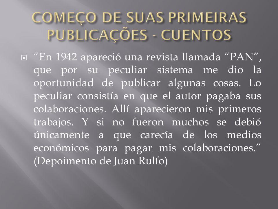 COMEÇO DE SUAS PRIMEIRAS PUBLICAÇÕES - CUENTOS
