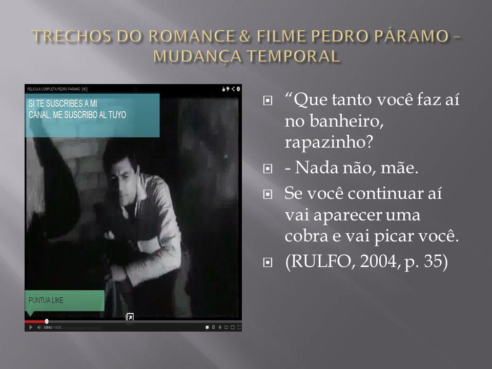 TRECHOS DO ROMANCE & FILME PEDRO PÁRAMO – MUDANÇA TEMPORAL