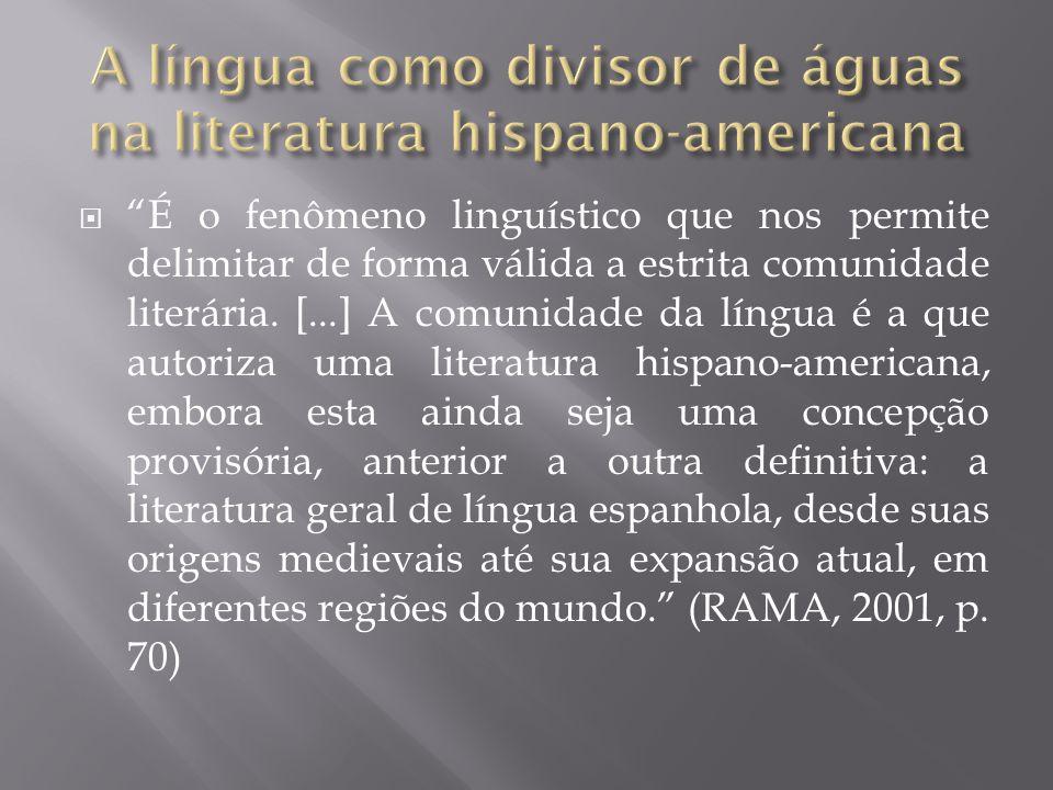 A língua como divisor de águas na literatura hispano-americana