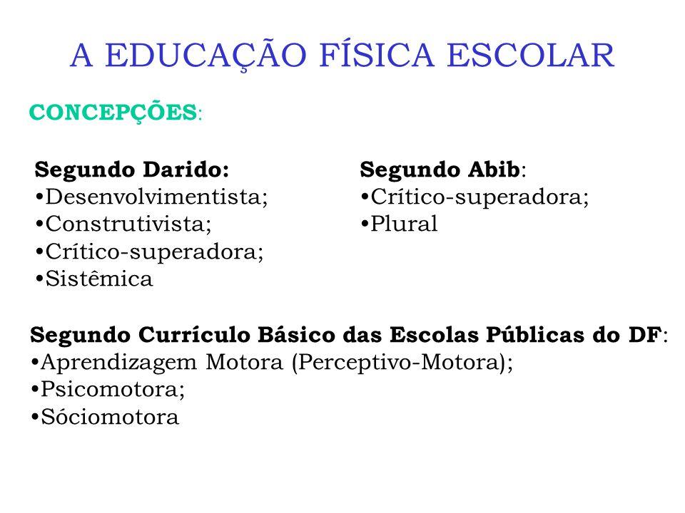A EDUCAÇÃO FÍSICA ESCOLAR