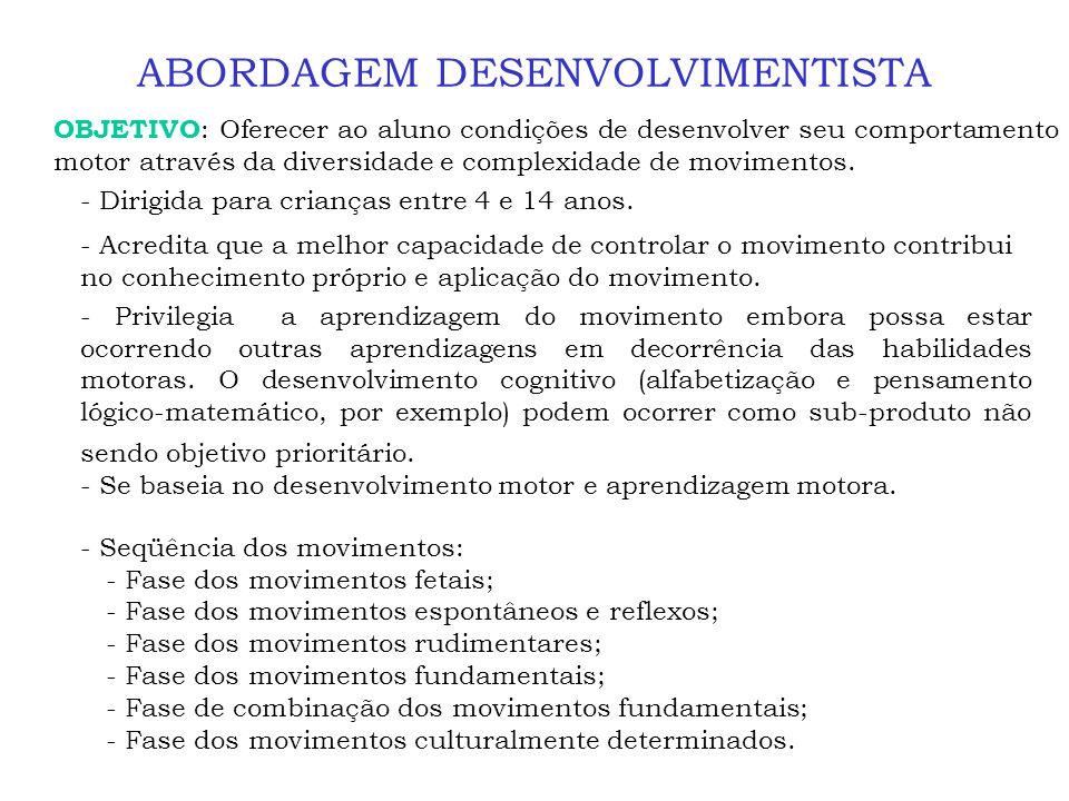 ABORDAGEM DESENVOLVIMENTISTA