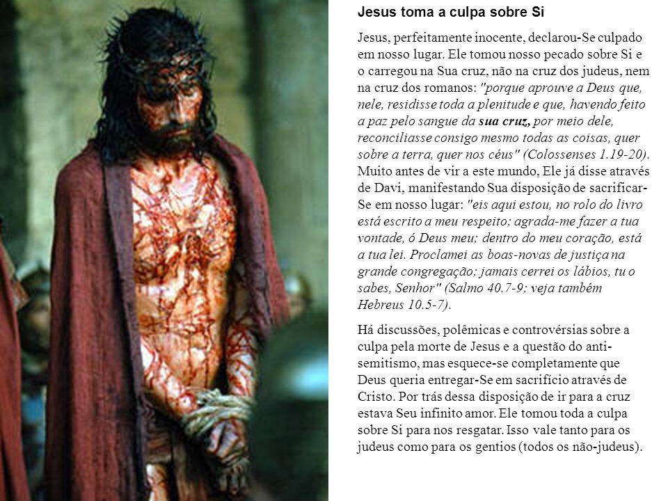 Jesus toma a culpa sobre Si