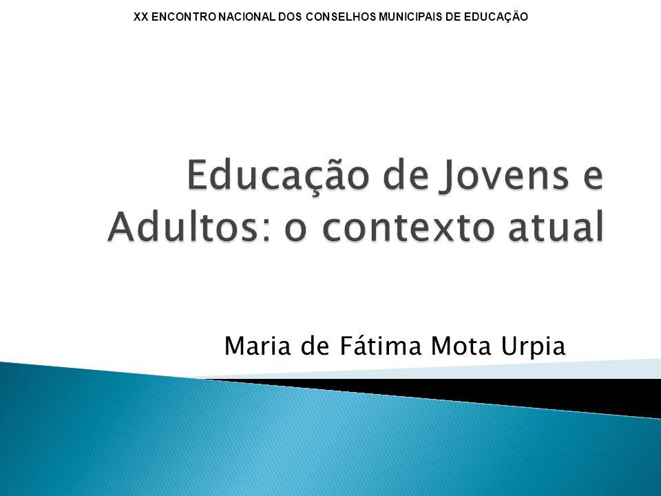 Educação de Jovens e Adultos: o contexto atual