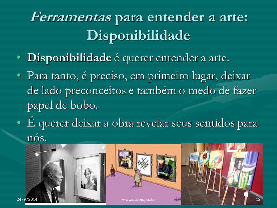 Ferramentas para entender a arte: Disponibilidade