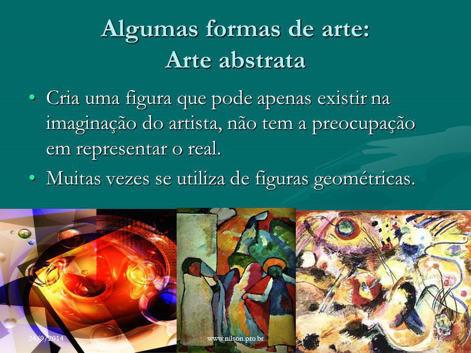 Algumas formas de arte: Arte abstrata