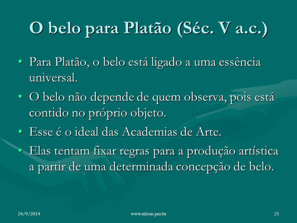 O belo para Platão (Séc. V a.c.)
