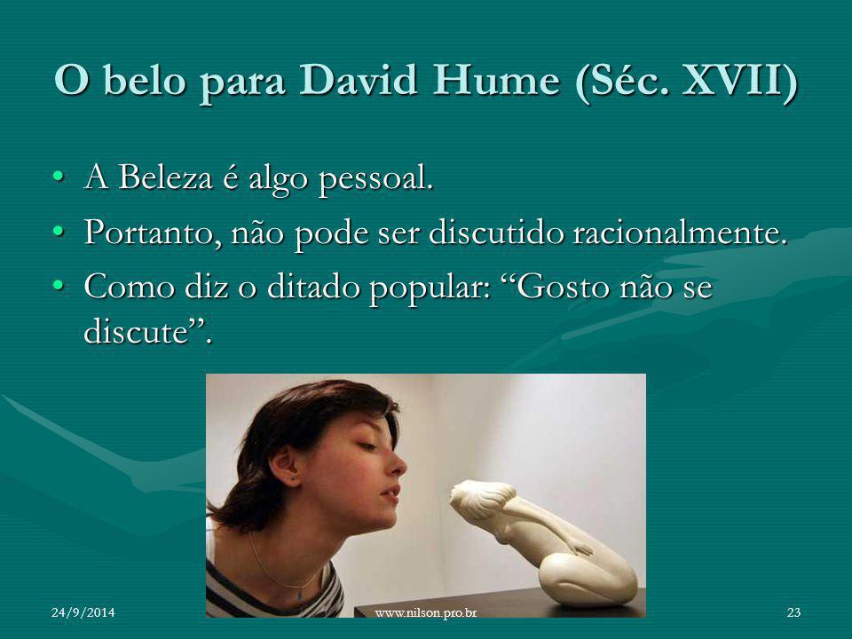 O belo para David Hume (Séc. XVII)