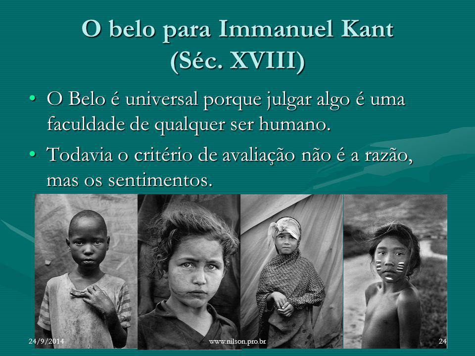 O belo para Immanuel Kant (Séc. XVIII)