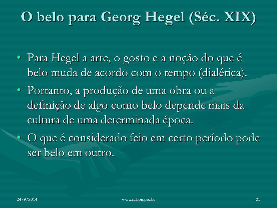 O belo para Georg Hegel (Séc. XIX)