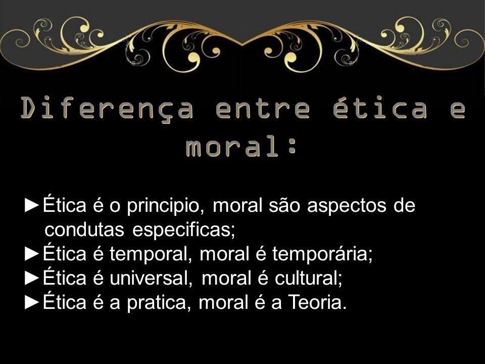 Diferença entre ética e moral: