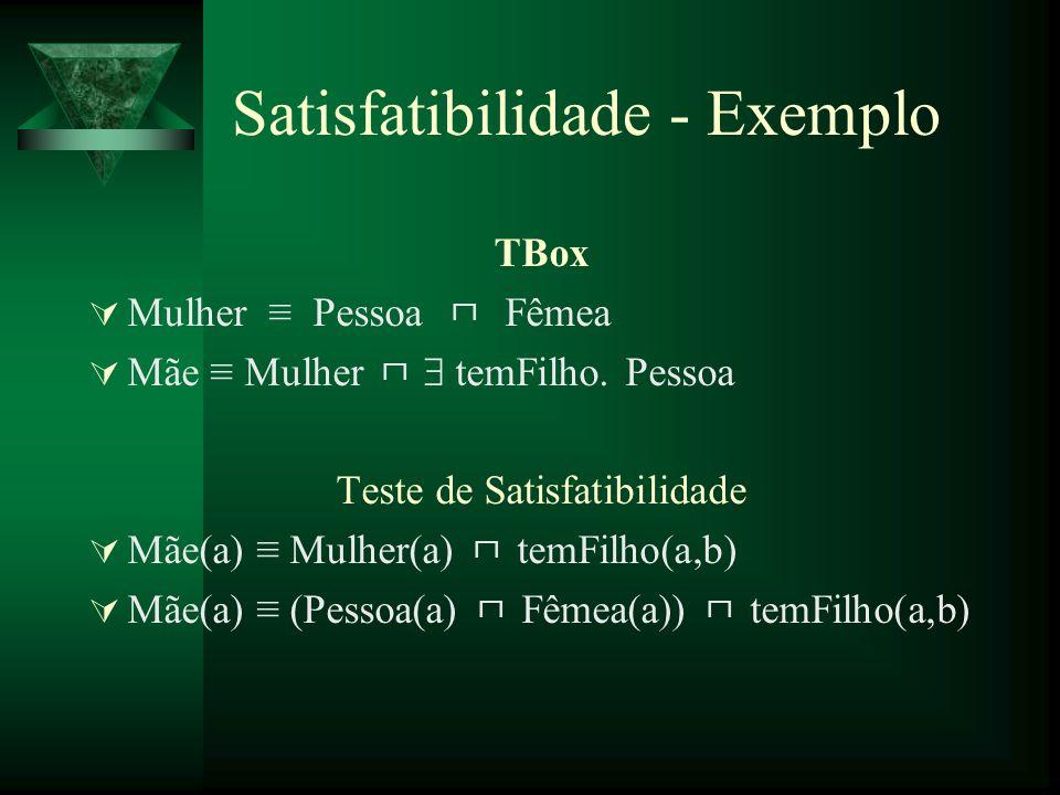 Satisfatibilidade - Exemplo