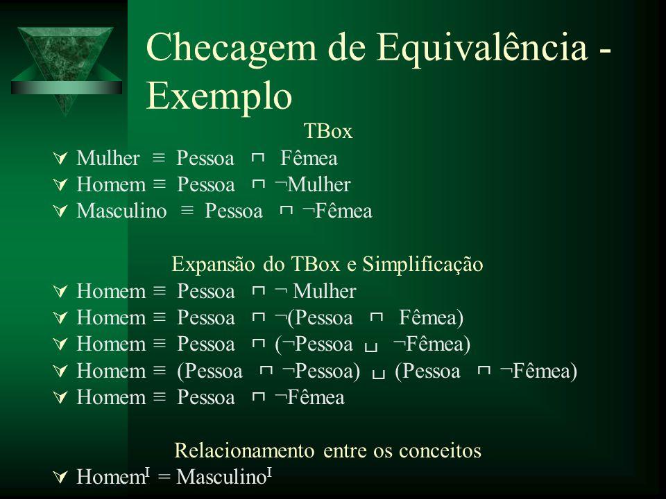 Checagem de Equivalência - Exemplo