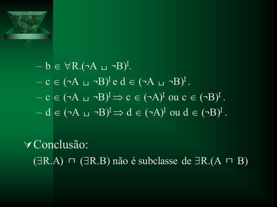 Conclusão: b  R.(¬A └┘ ¬B)I. c  (¬A └┘ ¬B)I e d  (¬A └┘ ¬B)I .