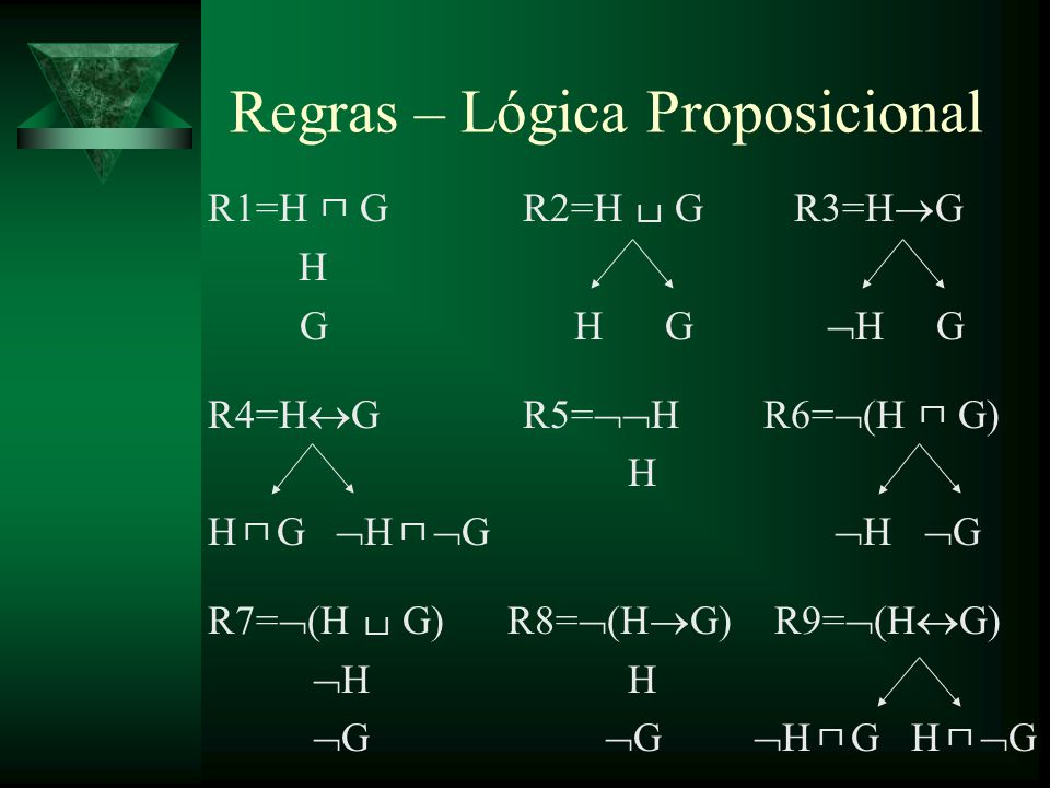 Regras – Lógica Proposicional