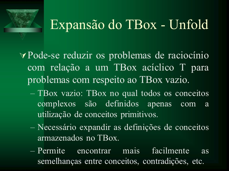 Expansão do TBox - Unfold